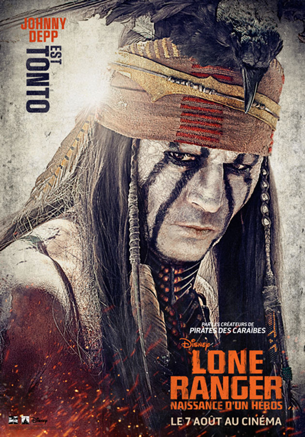 Johnny Depp Dans Lone Ranger Pictures to pin on Pinterest