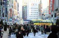Shoppers in the Ginza shopping district in Tokyo pictured in December 1, 2012. The sound of Mandarin-speaking tourists and the cash tills they set ringing have become rare in Tokyo's upmarket Ginza district, retailers say, since a flare-up in an island row between China and Japan