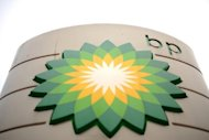 The BP logo is shown at a petrol station in central London, February 1, 2011. BP said Tuesday that net profits slumped by more than half to $11.582 billion (8.6 billion euros) last year as the group was hit by ongoing fallout from the 2010 oil spill disaster