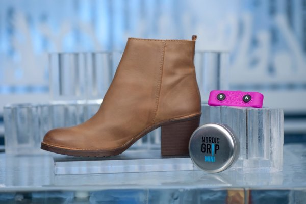 Wrap that pink strip around the toe of your boots and you're ready to face the snowy streets. (Facebook)