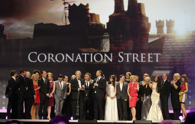 Corrie... cast pick up gong at the NTAs (Copyright: PA)