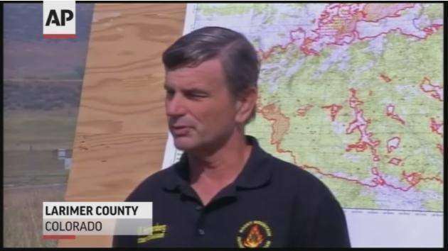 Crews cede ground to northern Colorado wildfire