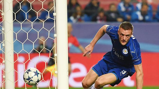 Jamie Vardy's away goal gives Sevilla a case of the jitters as Leicester City eye unlikely Champions League progression