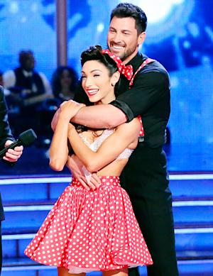 "Maksim Chmerkovskiy on Meryl Davis: ""I Love Her""; Plus, Kate Upton Run-In Explained"