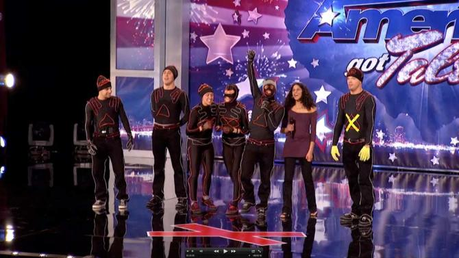 """Team iLuminate (glow suit dancers) is one of the Top 48 acts on Season 6 of """"America's Got Talent."""""""