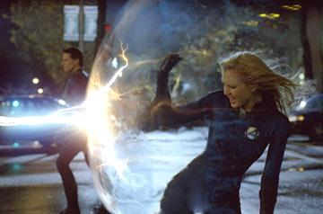 Ioan Gruffudd and Jessica Alba in 20th Century Fox's Fantastic Four