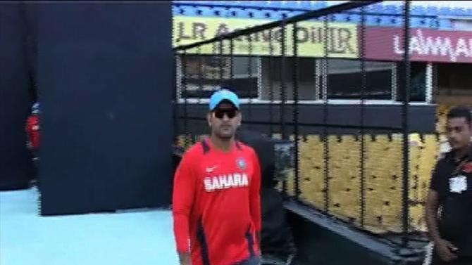 Team India captain M.S. Dhoni disappointed with batting.