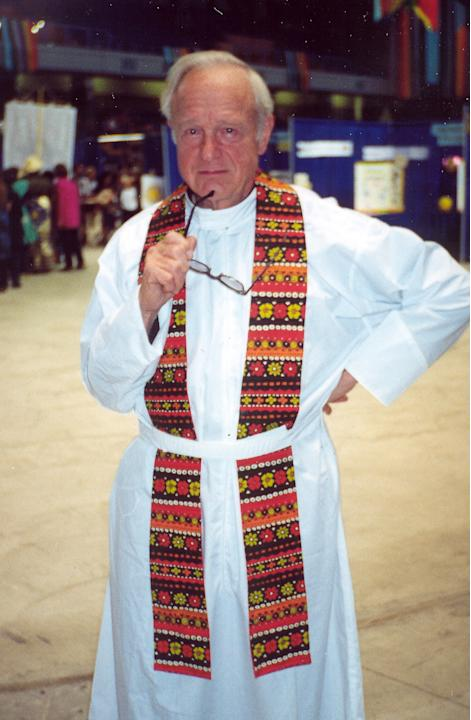 This Aug. 26, 2000 photo provided by The Alaskan Shepherd, shows The Rev. Louis Renner at the 2000 Jubilee celebration in Fairbanks, Alaska. Renner, a Jesuit priest who spent four decades teaching in