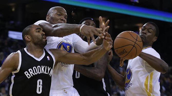 Jermaine O'Neal carries Warriors past Nets, 93-86