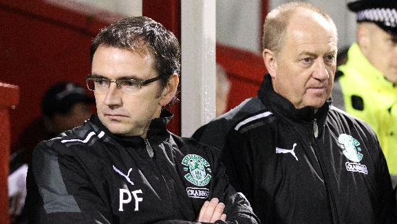 Billy Brown (right) was assistant to Pat Fenlon at Hibernian