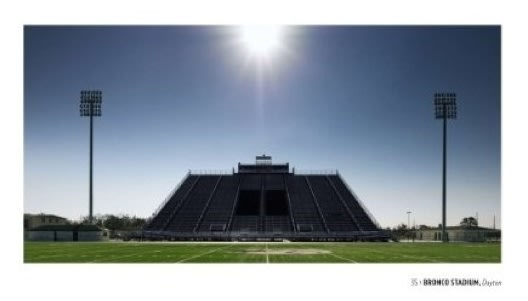 Coffee table book shows Texas football stadiums as