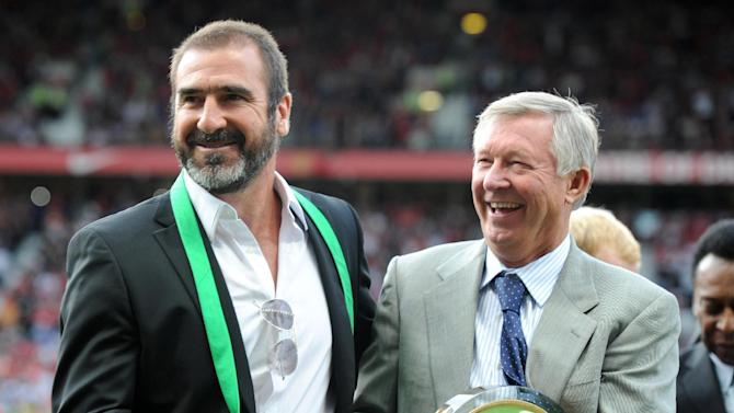 Eric Cantona, left, will be among the guests honouring Sir Alex Ferguson's time with Manchester United