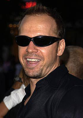 """Premiere: """"Positivity is not about bein' soft, it's about bein' smart, you sucka!"""" says Donnie Wahlberg at the Westwood premiere of Dimension's Jay and Silent Bob Strike Back - 8/15/2001"""