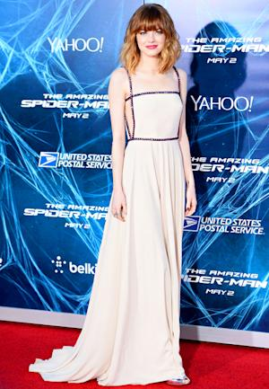 Emma Stone Dazzles in Classy Cutouts at Amazing Spider-Man 2 NYC Premiere