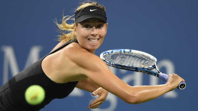 US Open - Sharapova surges through, Halep and Venus fight back