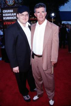 """Premiere: Alan Thicke, legendary for his late night talk show """"Thicke Of The Night"""" as well as the """"Not Quite Human"""" saga, with his son Brennan at the LA premiere for Eyes Wide Shut Photo by Jeff Vespa/Wireimage.com"""