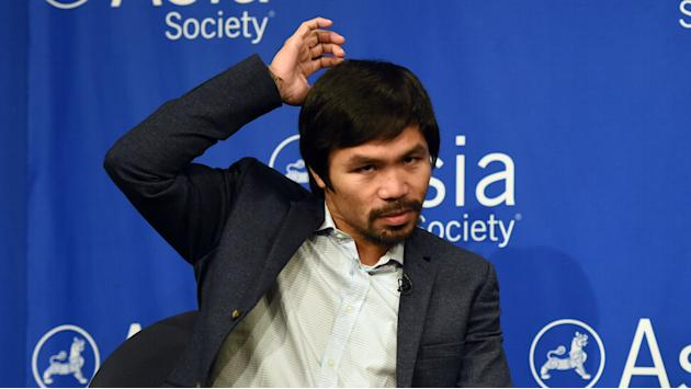 ​Manny Pacquiao won't box at Rio Olympics even if controversial rule passes
