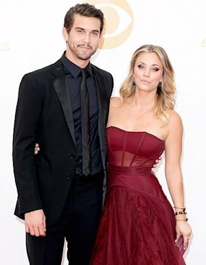 Kaley Cuoco Takes New Boyfriend Ryan Sweeting to the 2013 Emmys, Ex Johnny Galecki Shows PDA With Girlfriend Kelli Garner