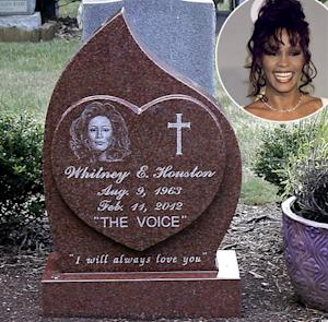 "Whitney Houston's Headstone Revealed, Reads ""I Will Always Love You"""