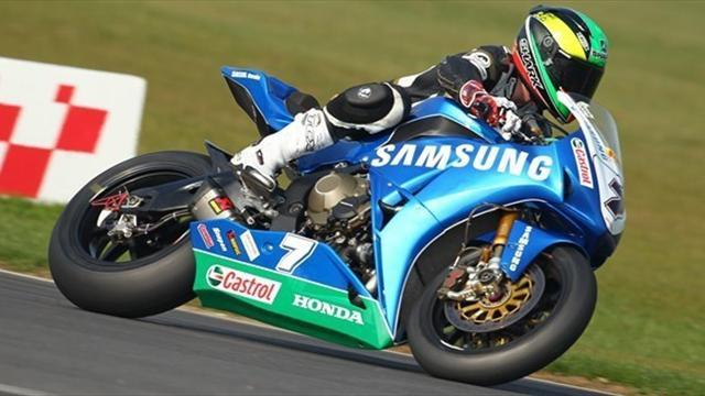Laverty wins race two as Biaggi nears Superbike title