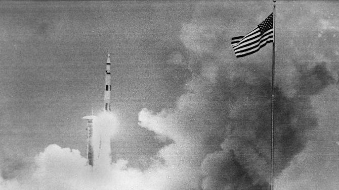 FILE - In this April 11, 1970 file photo, the Saturn rocket carrying the Apollo 13 spacecraft lifts off the launch pad at Cape Kennedy, Fla. It really is rocket science and it really is hard. North Korea proved that again. The giant explosion that gets a rocket off the ground isn't that complicated. Controlling that reaction and going where you want, when you want - that's where engineers earn their money and ulcers. And it's where past rockets and spaceships have ended in spectacular and sometimes deadly failures. Former NASA deputy administrator Hans Mark said most failures are from human error. He pointed to a dropped oxygen tank that caused the near-fatal Apollo 13 explosion. (AP Photo)