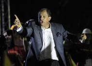 Luis Guillermo Solis, presidential candidate of the Citizens' Action Party (PAC), delivers a speech during a rally after the official election results were released in San Jose April 6, 2014. REUTERS/Juan Carlos Ulate