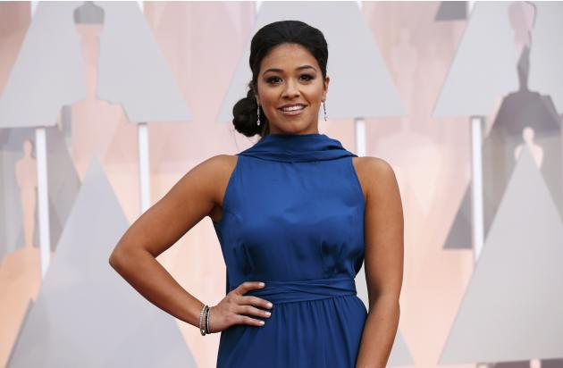 Actress Gina Rodriguez arrives at the 87th Academy Awards in Hollywood