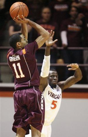 Nolte lead Virginia past Virginia Tech 74-58