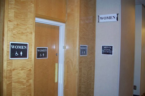 Ladies' room at GHC