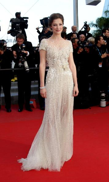 Actress Alexandra Maria Lara attends the 'On The Road' Premiere during the 65th Annual Cannes Film Festival at Palais des Festivals on May 23, 2012 in Cannes, France. (Photo by Vittorio Zunino