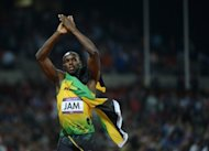 Jamaican sprint king Usain Bolt celebrates after winning the men's 4x100m relay final at the London Olympics on August 11. Negotiations are underway for the cricket-mad Bolt to play in Australia's Twenty20 Big Bash League, with Shane Warne leading the campaign to bring him to Melbourne