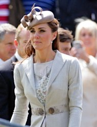 First seen on her Royal tour of Canada, Kate looked chic in her floral Jenny Packham dress