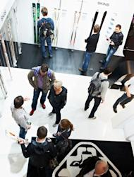 Attendees peruse the latest innovations in ski gear at the 2011 ISPO trade show in Munich
