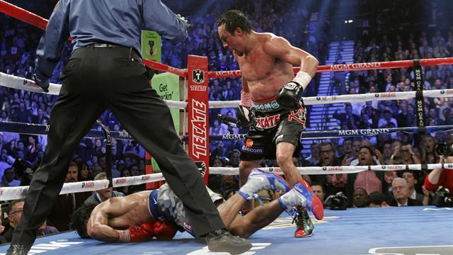 Boxing - Juan Marquez knocks Manny Pacquiao out cold in Vegas