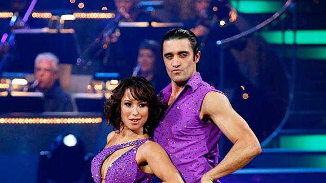 """Gilles Marini and Cheryl Burke perform the Salsa to """"I Know You Want Me (Calle Ocho)"""" by Pitbull on """"Dancing with the Stars."""""""