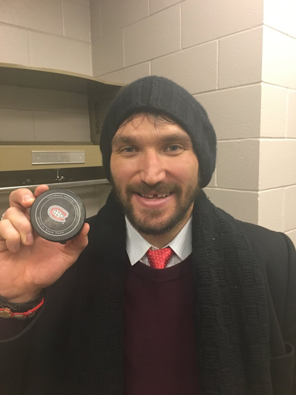 Ovechkin ties 'Rocket' Richard in career goals at Bell Centre