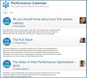Web Performance Advent Calendar