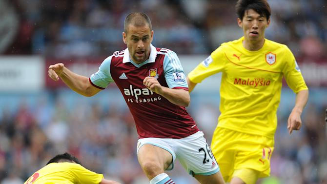 Soccer - Barclays Premier League - West Ham United v Cardiff City - Upton Park