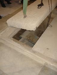 Archaeologists open the tomb of Giovanni dalle Bande Nere in Florence.
