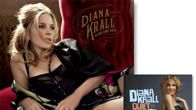 Diana Krall has always been an attractive woman, but, man, she's looking super sexy in lingerie on the cover of her new album, Glad Rag Doll. The look works hand-in-hand with the set of romantic covers. For the covers of previous albums, including Quiet Nights, she took on a still glamorous, but more subdued look.