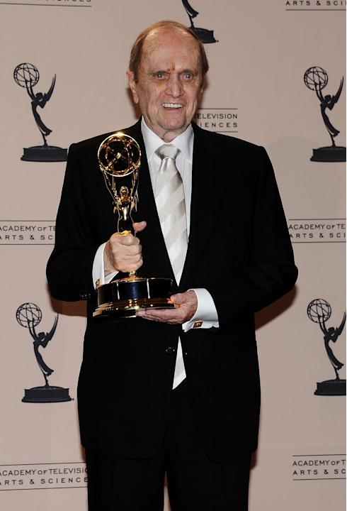 Bob Newhart poses in the press room at the 2013 Primetime Creative Arts Emmy Awards, on Sunday, September 15, 2013 at Nokia Theatre L.A. Live, in Los Angeles, Calif. (Photo by Scott Kirkland/Invision