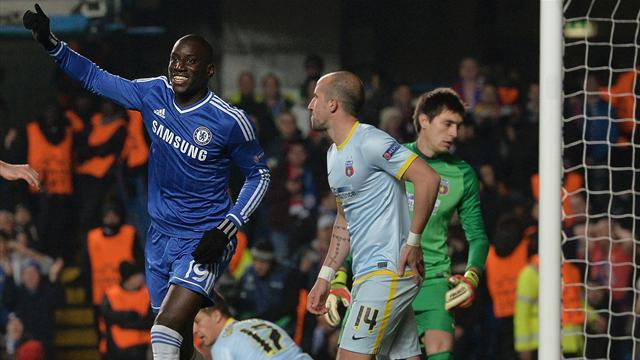 Champions League - Chelsea top group with dour Steaua win