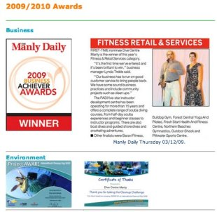 3 Must Have Elements for Corporate Identity on your Tour or Activity Website image awards for dive centres