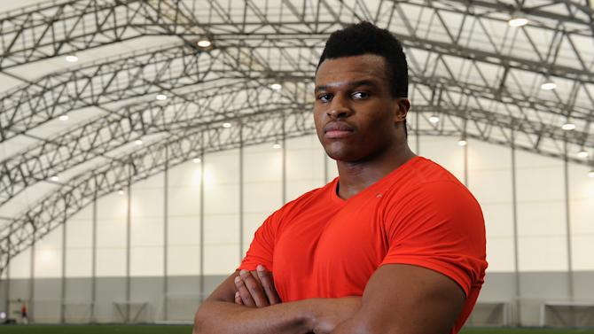 Lawrence Okoye - NFL Media Day