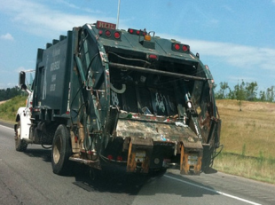 You see a garbage truck and you...