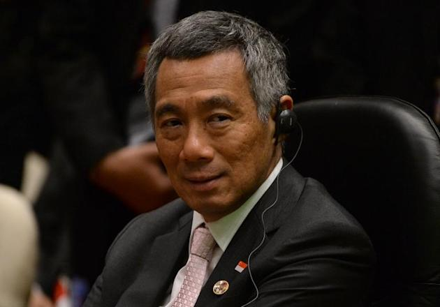 Singapore Prime Minister Lee Hsien Loong, pictured during the 16th ASEAN-Korea summit on the sidelines of the 23rd summit of the ASEAN, in Bandar Seri Begawan, on October 9, 2013