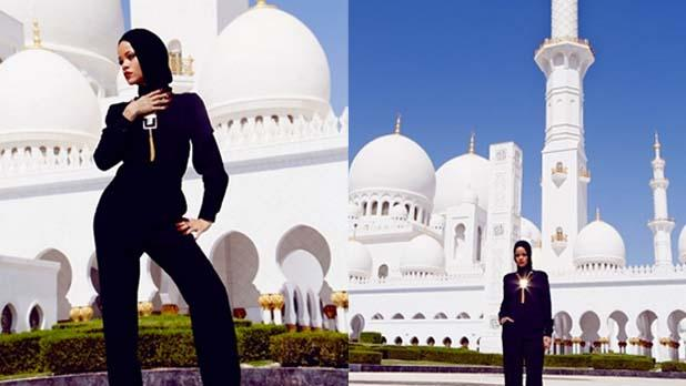 Rihanna Ejected From Abu Dhabi Mosque for 'Inappropriate' Instagram Photos