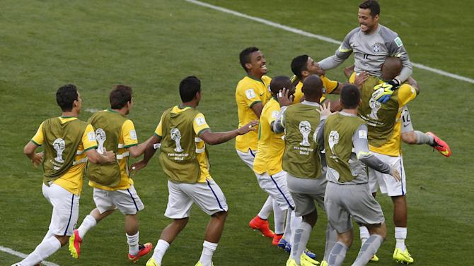 World Cup - Brazil survive Chile shootout to make quarter-finals