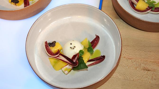 Daniel Humm's Raddichio with Mozzarella, Mango and Basil