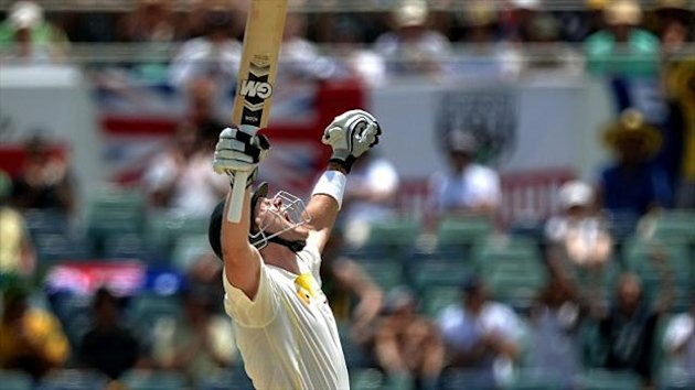 Australia's Shane Watson scored a century as the Ashes hosts piled the agony on England in the third Test in Perth.